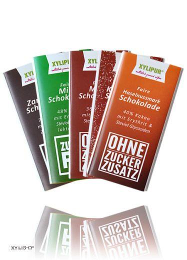 Faire Zuckerfrei Schokoladen-Probierset Xylipur, 300g