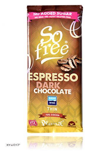 Xylit Schokolade SoFree Espresso 72% Kakao 80g