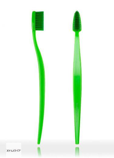 Natürliche Zahnbürste Biobrush Grün für Erwachsene medium-soft