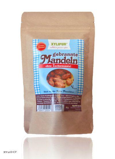 Gebrannte Mandeln ohne Zuckerzusatz mit Erythrit - XYLIPUR®  80g