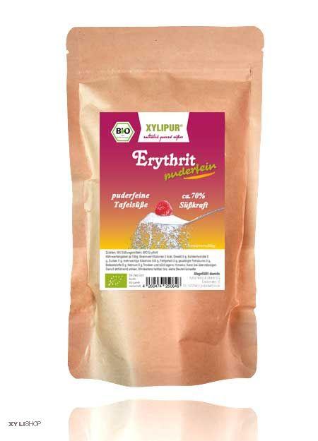 Xylipur® BIO ZERO fein - 100% Bio Erythrit Puder extra fein 250g