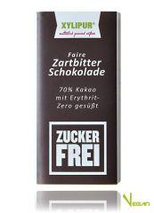 Faire Ohne Zucker Zartbitter-Schokolade Xylipur 70% Kakao, 60g