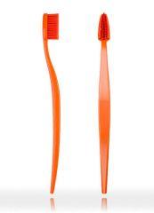 Natürliche Zahnbürste Biobrush Orange für Erwachsene medium-soft