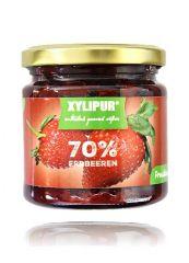 XYLIPUR Erdbeer Fruchtaufstrich, ohne Zuckerzusatz 200g
